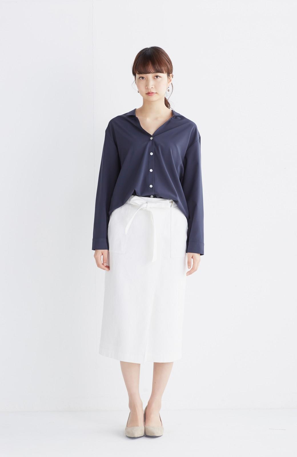 haco! パッと着るだけで女らしくてかっこいい ラップ風スカート by que made me <ホワイト>の商品写真3