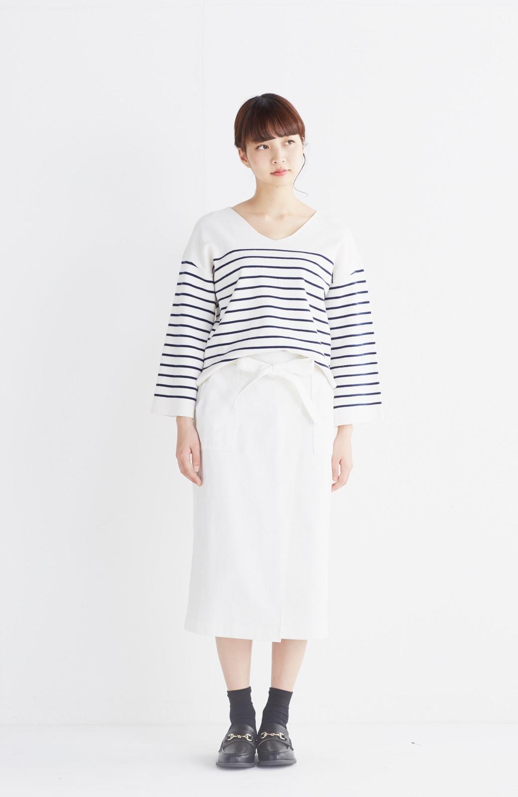 haco! パッと着るだけで女らしくてかっこいい ラップ風スカート by que made me <ホワイト>の商品写真4