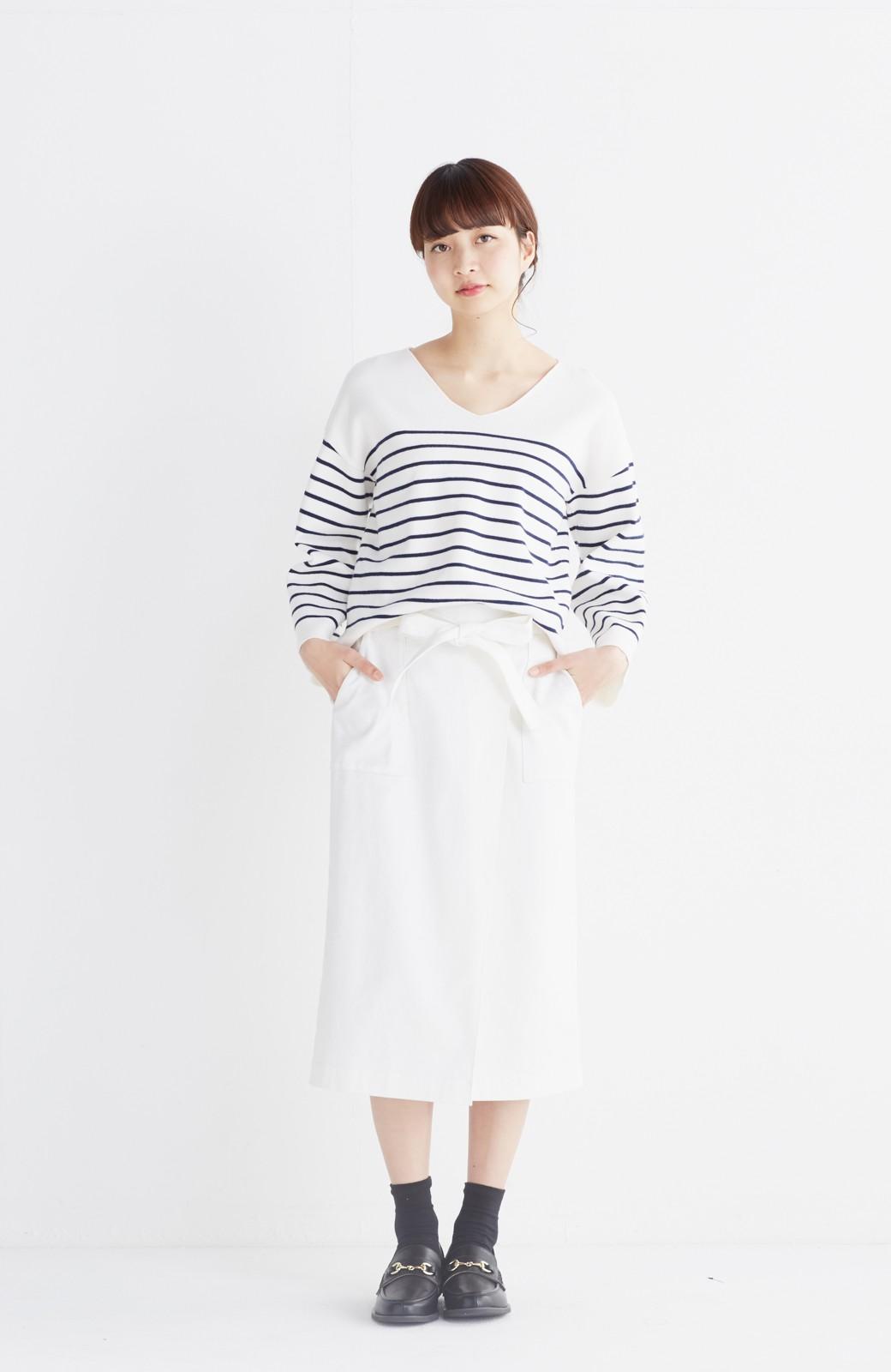 haco! パッと着るだけで女らしくてかっこいい ラップ風スカート by que made me <ホワイト>の商品写真5