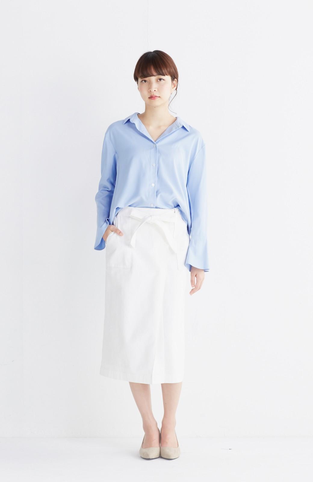 haco! パッと着るだけで女らしくてかっこいい ラップ風スカート by que made me <ホワイト>の商品写真6