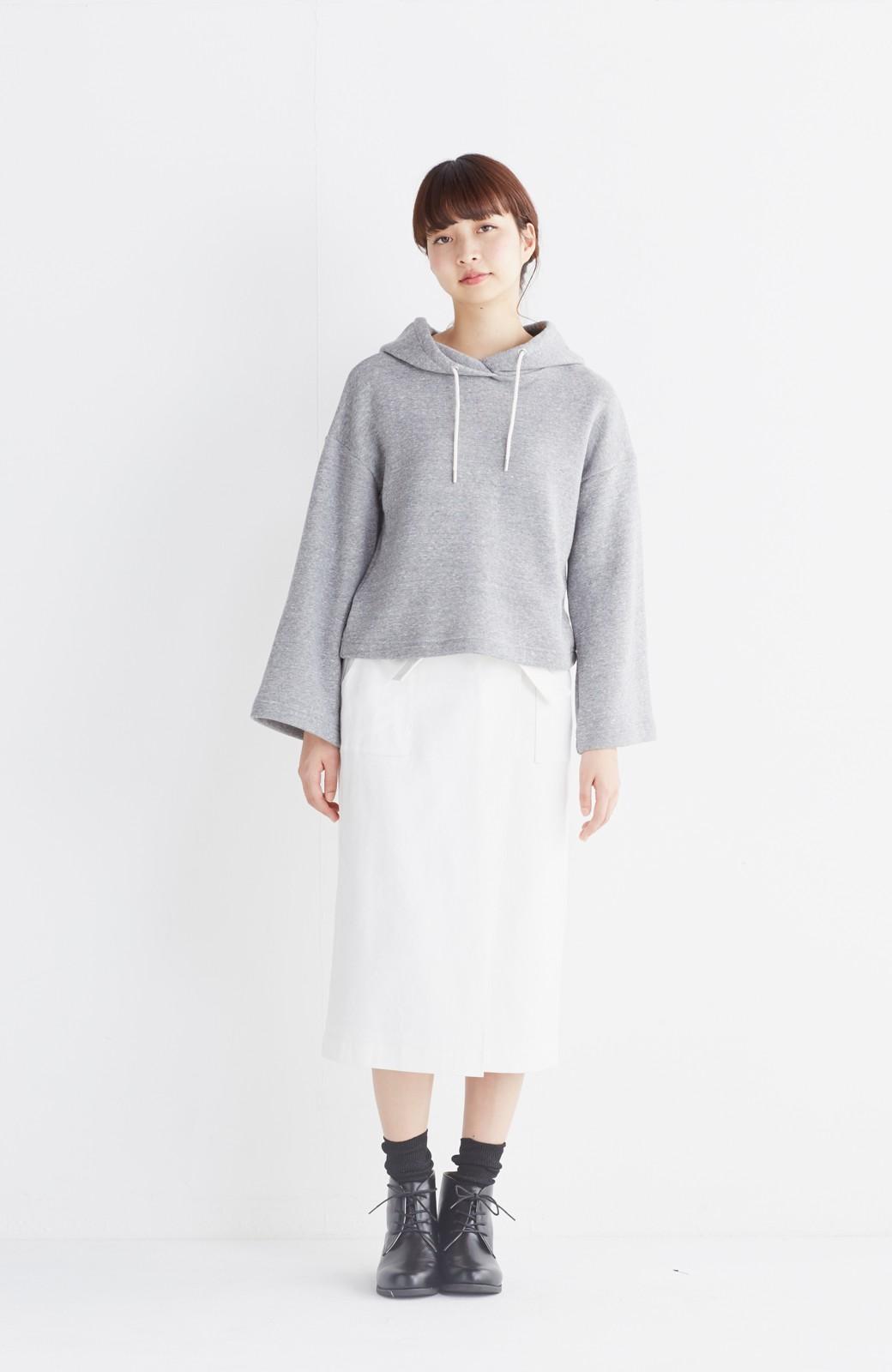 haco! パッと着るだけで女らしくてかっこいい ラップ風スカート by que made me <ホワイト>の商品写真7
