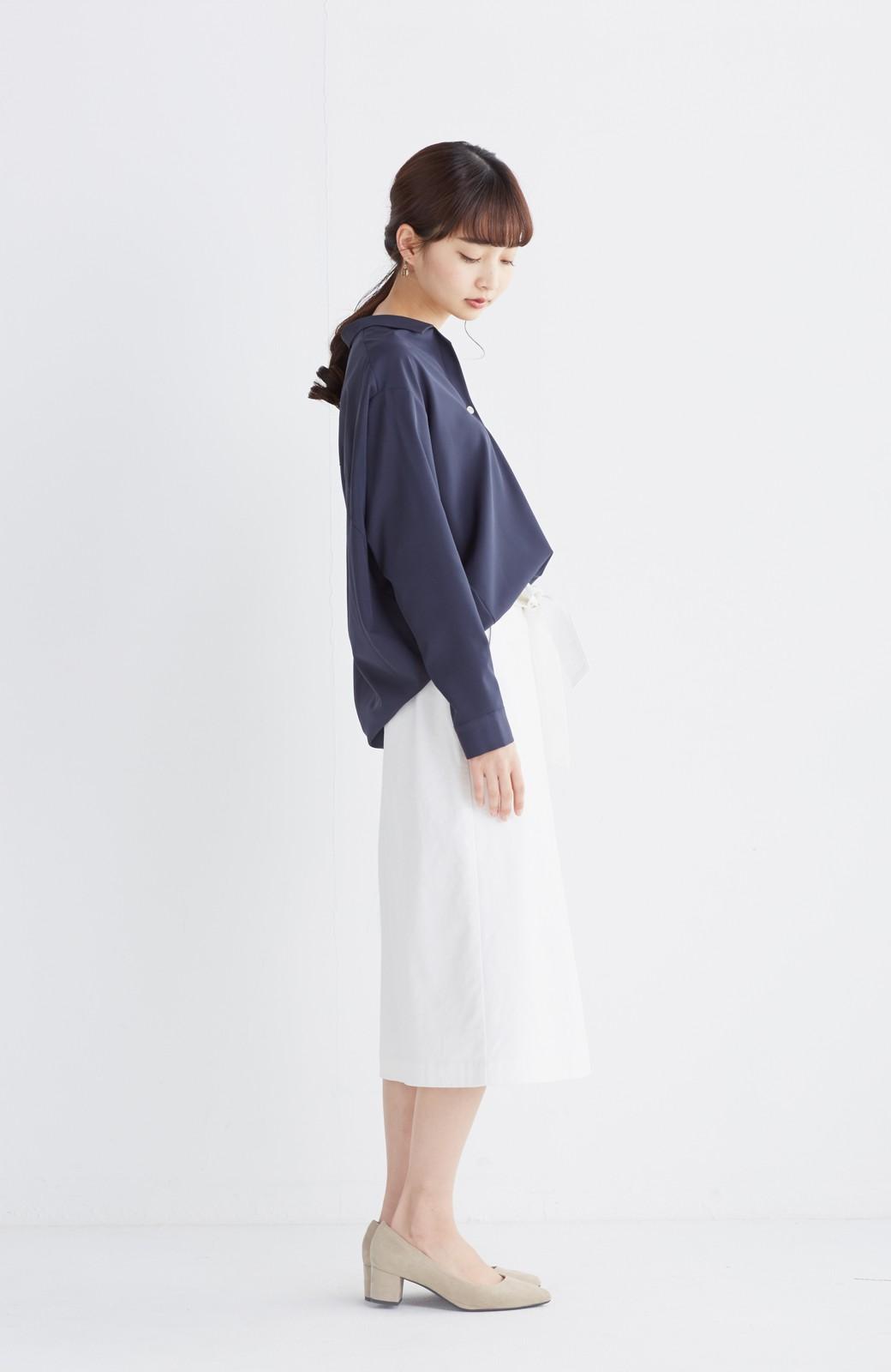 haco! パッと着るだけで女らしくてかっこいい ラップ風スカート by que made me <ホワイト>の商品写真8