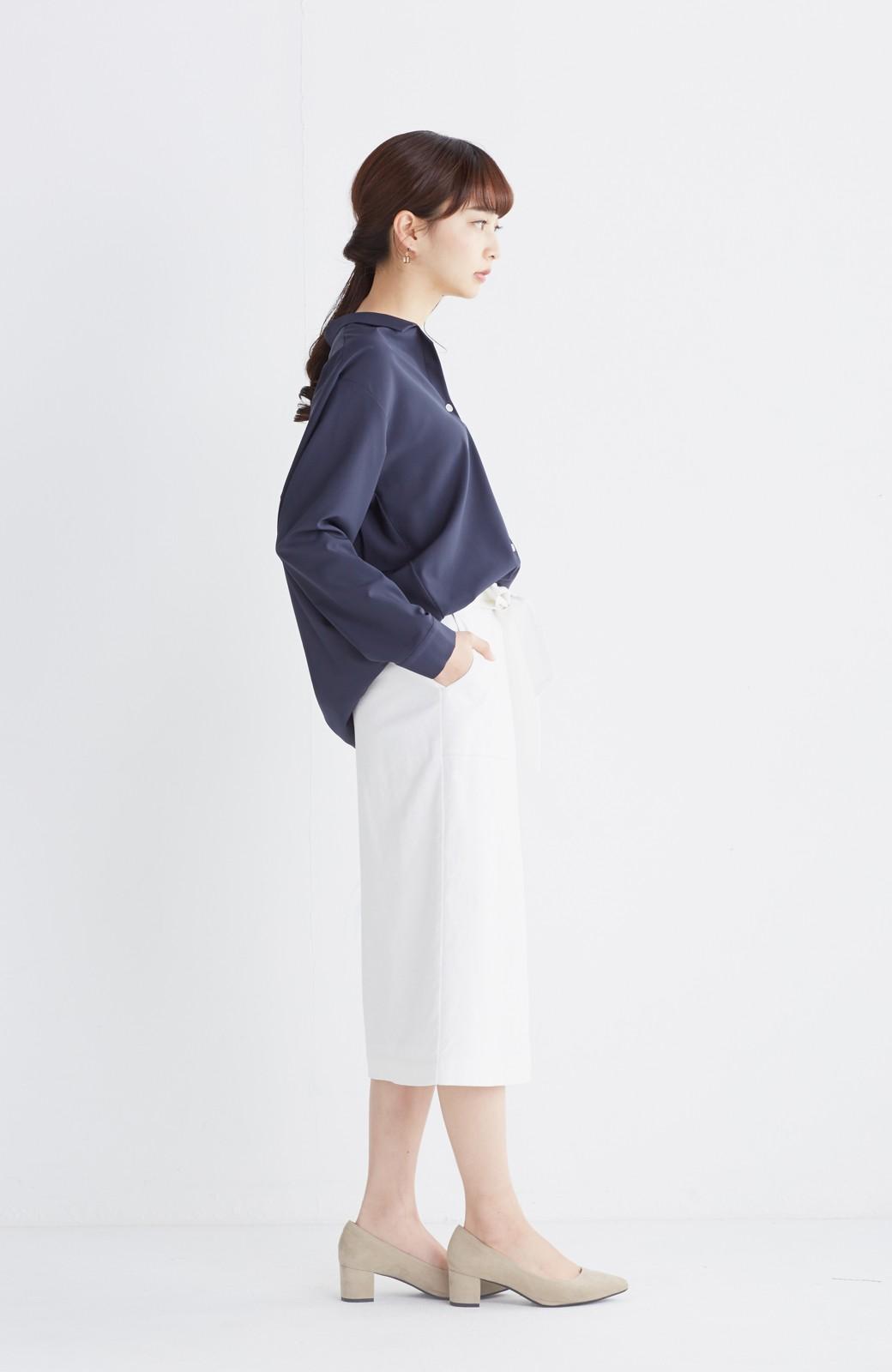 haco! パッと着るだけで女らしくてかっこいい ラップ風スカート by que made me <ホワイト>の商品写真9