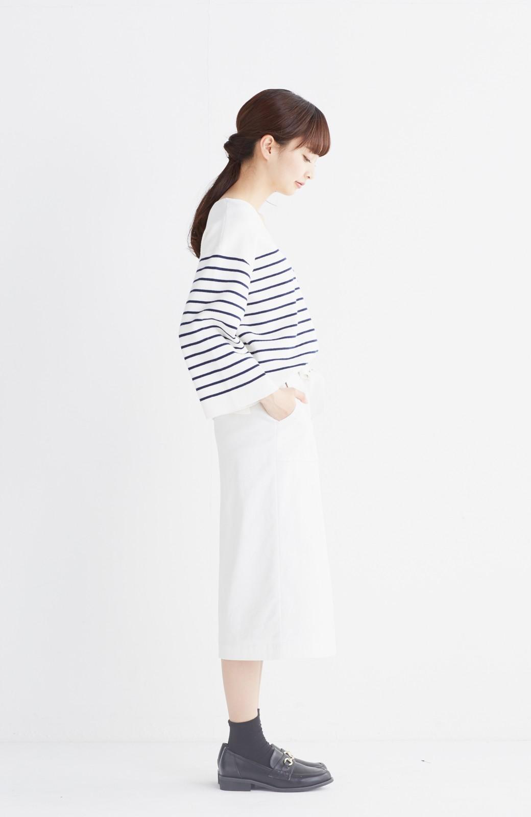 haco! パッと着るだけで女らしくてかっこいい ラップ風スカート by que made me <ホワイト>の商品写真10
