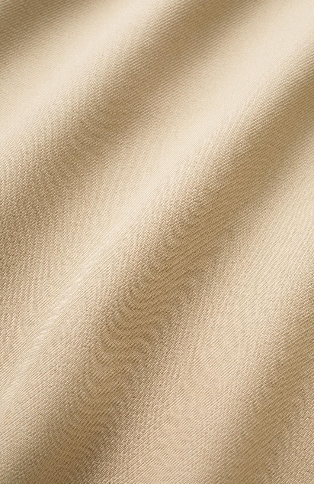 エムトロワ 【mer7月号掲載】洗濯機で洗える!ウエストリボンのきれいめワイドパンツ <ライトベージュ>の商品写真2