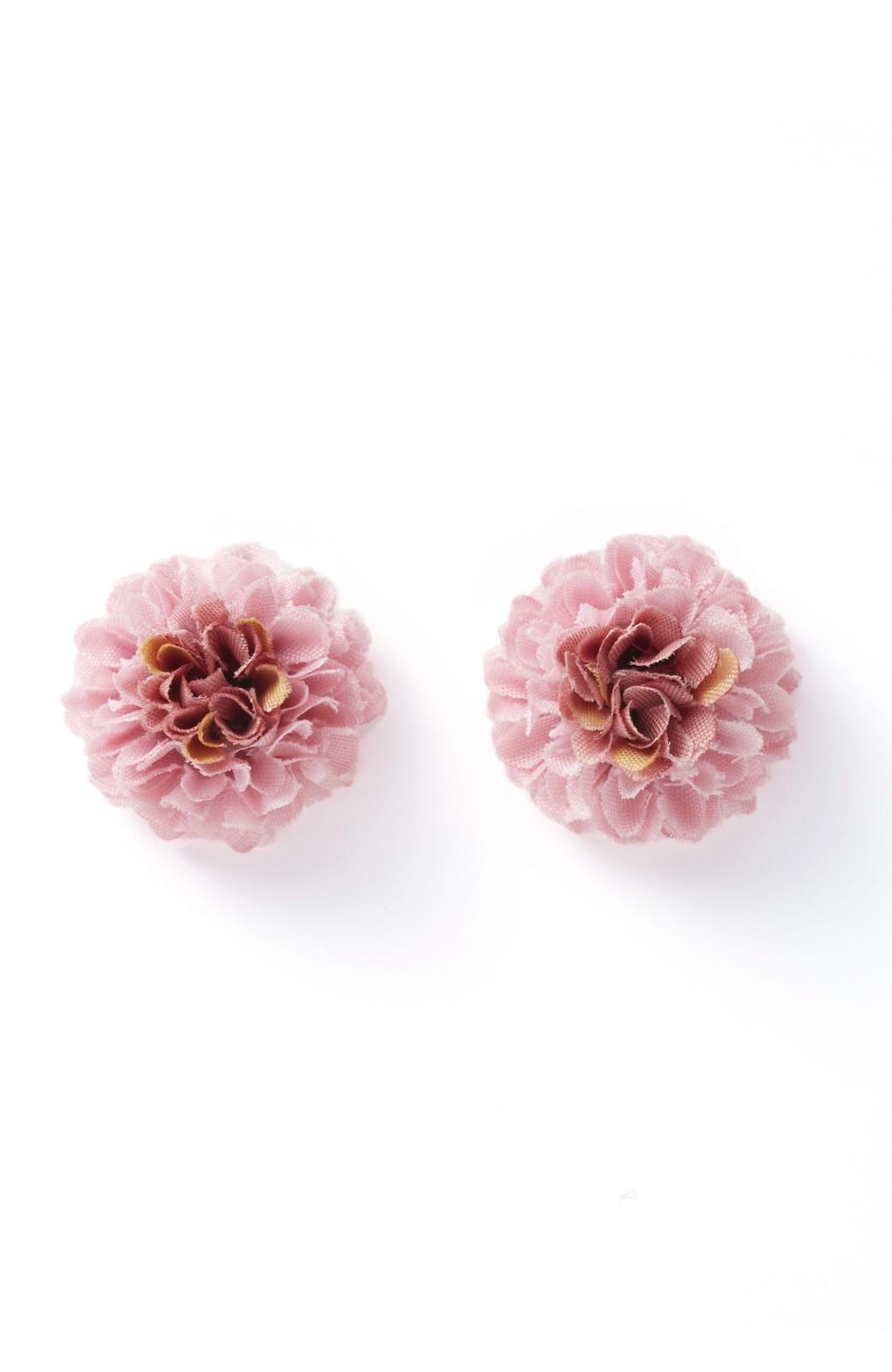 haco! 気分も顔まわりも華やかになる お花のピアス&イヤリング <ピンク>の商品写真1