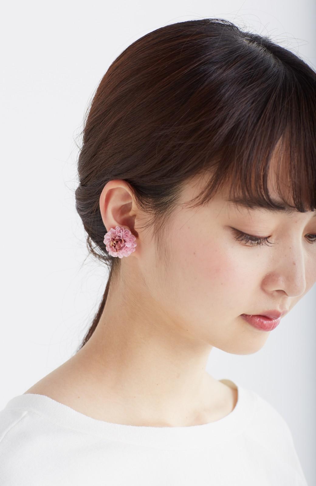 haco! 気分も顔まわりも華やかになる お花のピアス&イヤリング <ピンク>の商品写真2