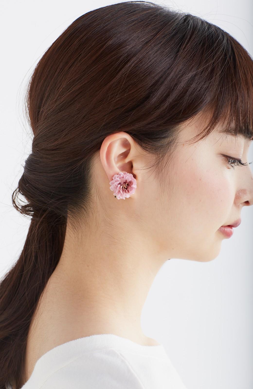 haco! 気分も顔まわりも華やかになる お花のピアス&イヤリング <ピンク>の商品写真4