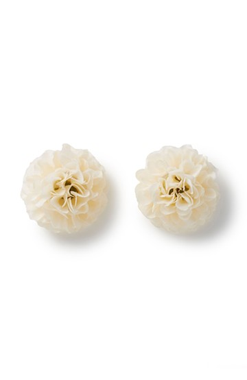 haco! 気分も顔まわりも華やかになる お花のピアス&イヤリング <アイボリー>の商品写真