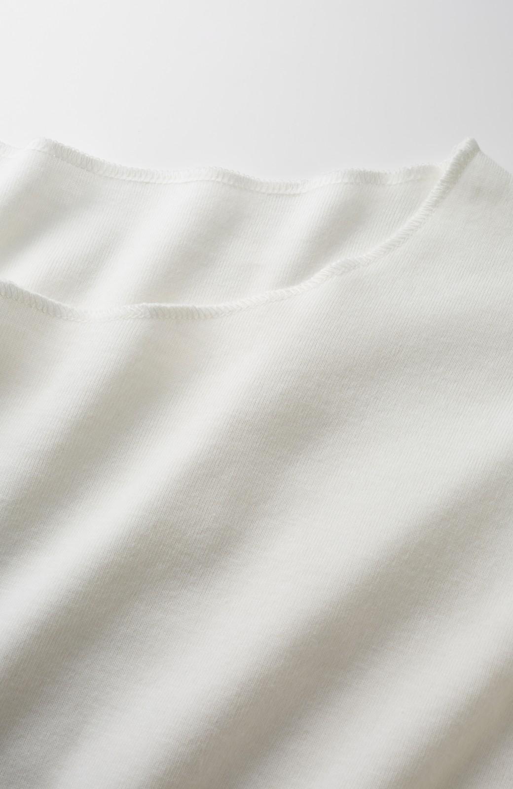 nusy PBP アルガンオイル加工のオーガニックコットン袖フリルトップス <ホワイト>の商品写真3
