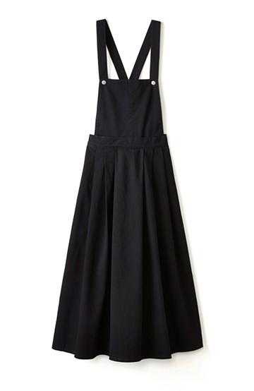 nusy ふんわりスカートとしても使える2WAYサロペットスカート <ブラック>の商品写真