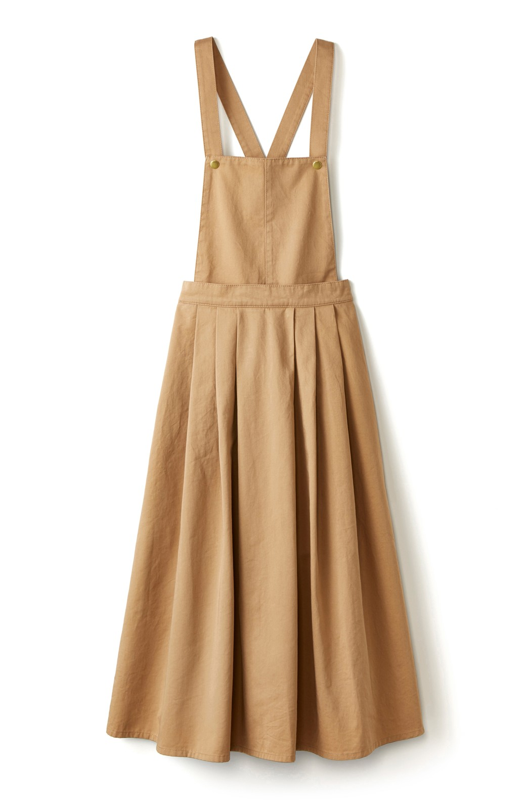 nusy 【mer7月号掲載】ふんわりスカートとしても使える2WAYサロペットスカート <ベージュ>の商品写真