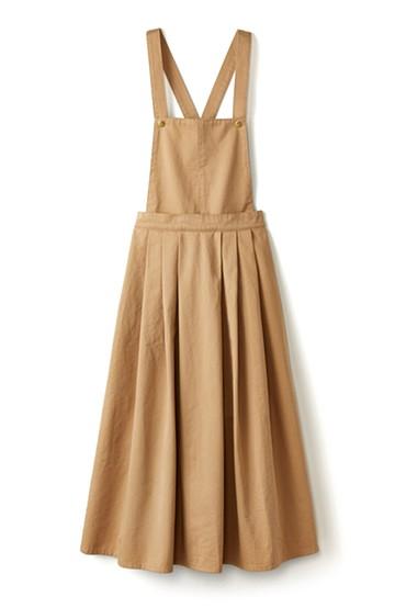 nusy ふんわりスカートとしても使える2WAYサロペットスカート <ベージュ>の商品写真