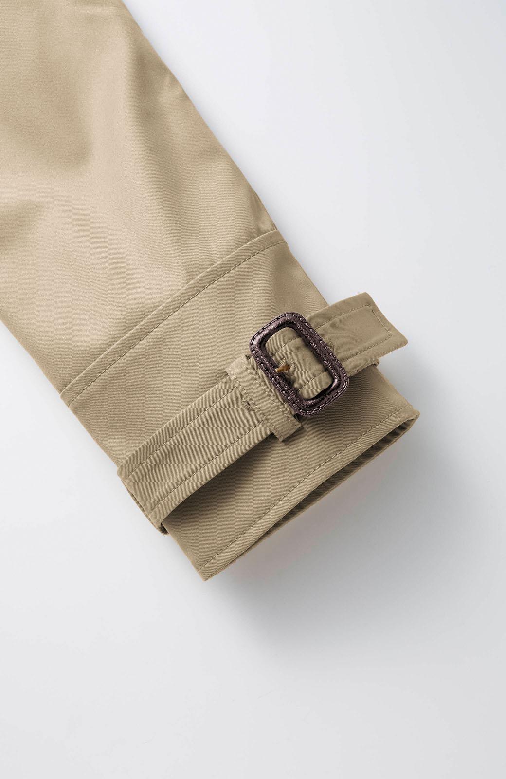 エムトロワ さっと羽織ってかっこいいロングトレンチコート <ベージュ>の商品写真3
