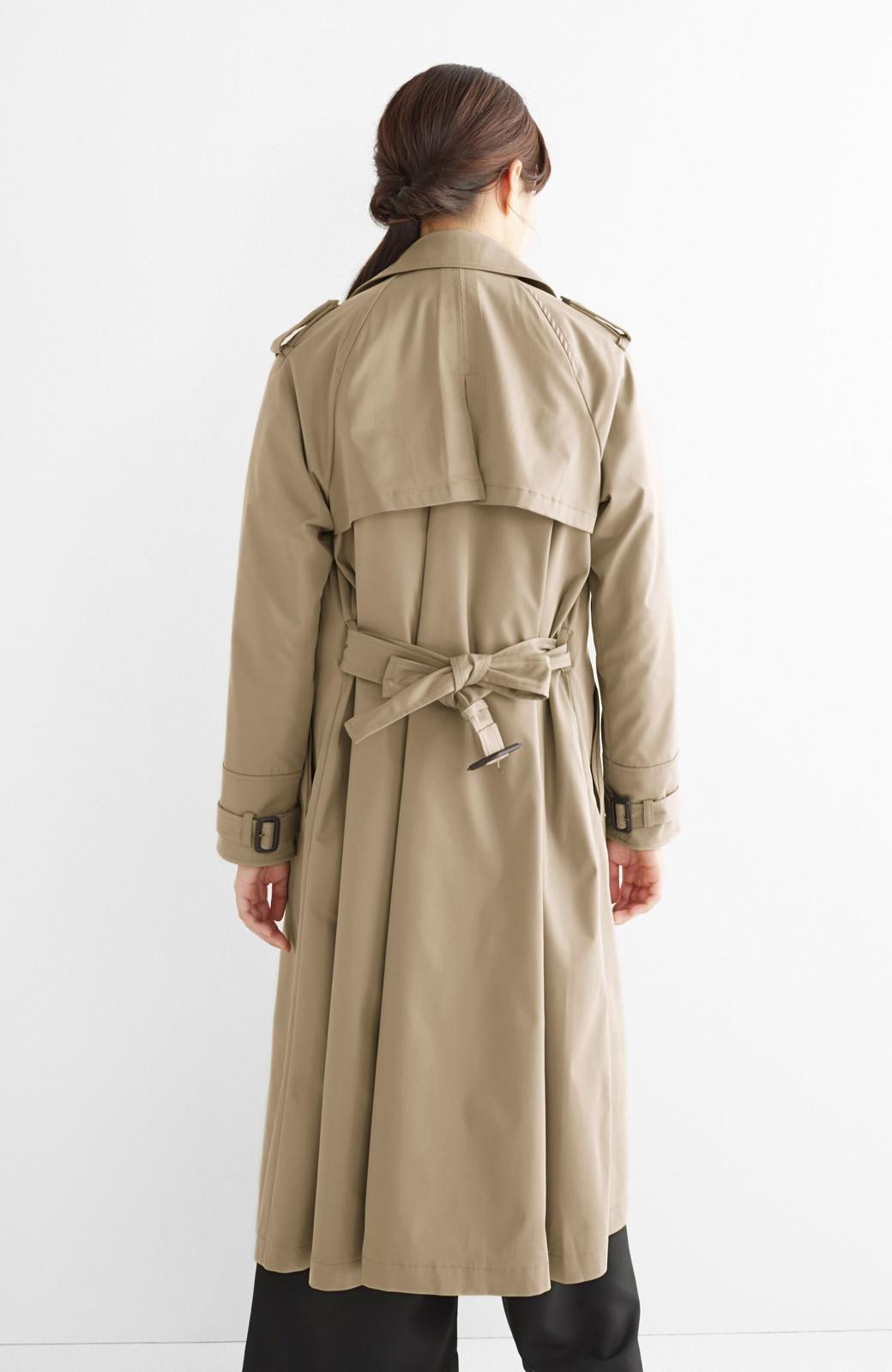 エムトロワ さっと羽織ってかっこいいロングトレンチコート <ベージュ>の商品写真16