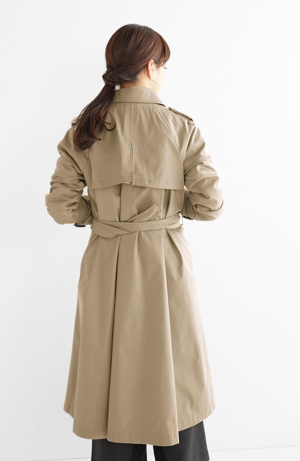 エムトロワ さっと羽織ってかっこいいロングトレンチコート <ベージュ>の商品写真17