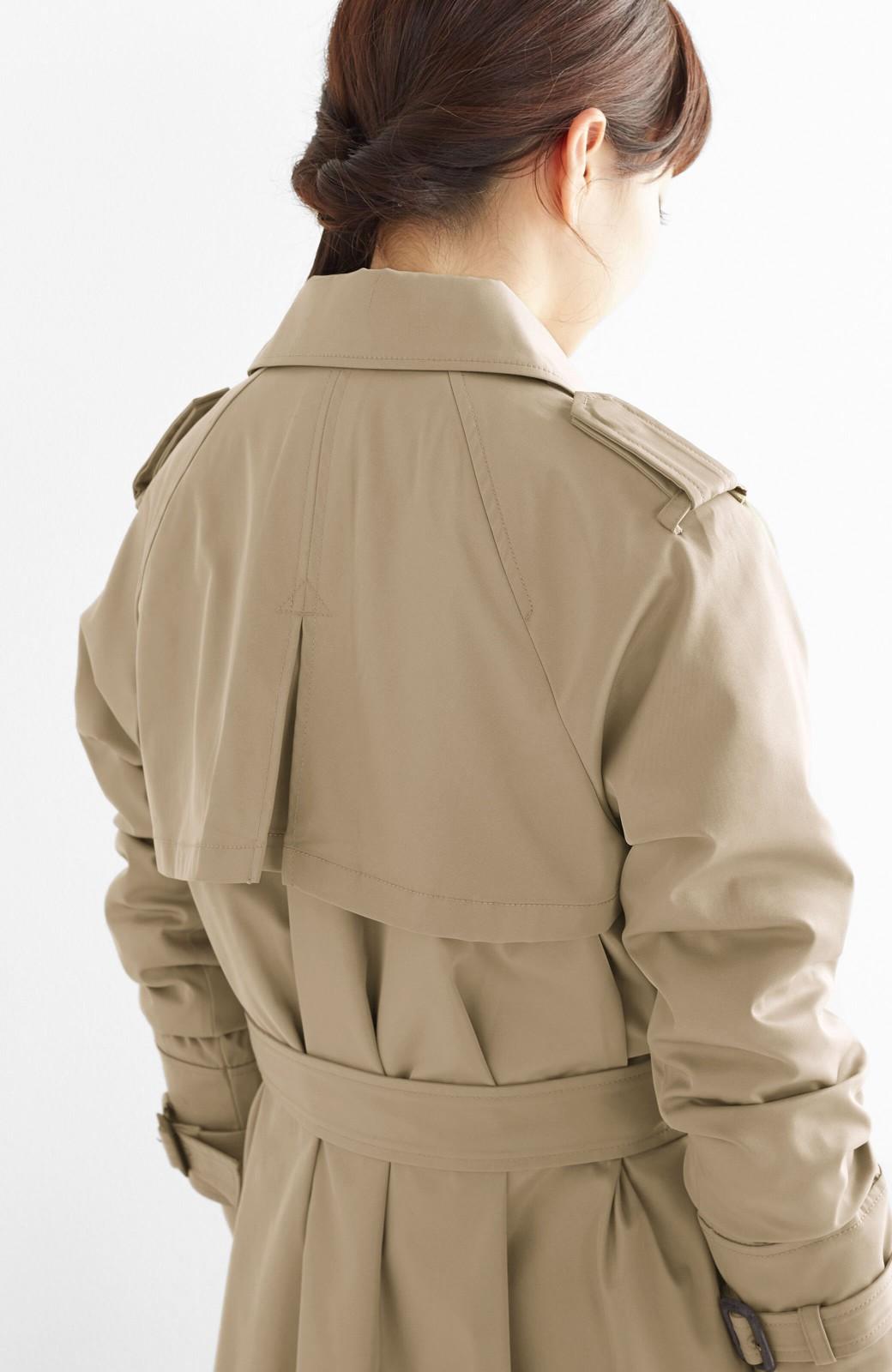 エムトロワ さっと羽織ってかっこいいロングトレンチコート <ベージュ>の商品写真21