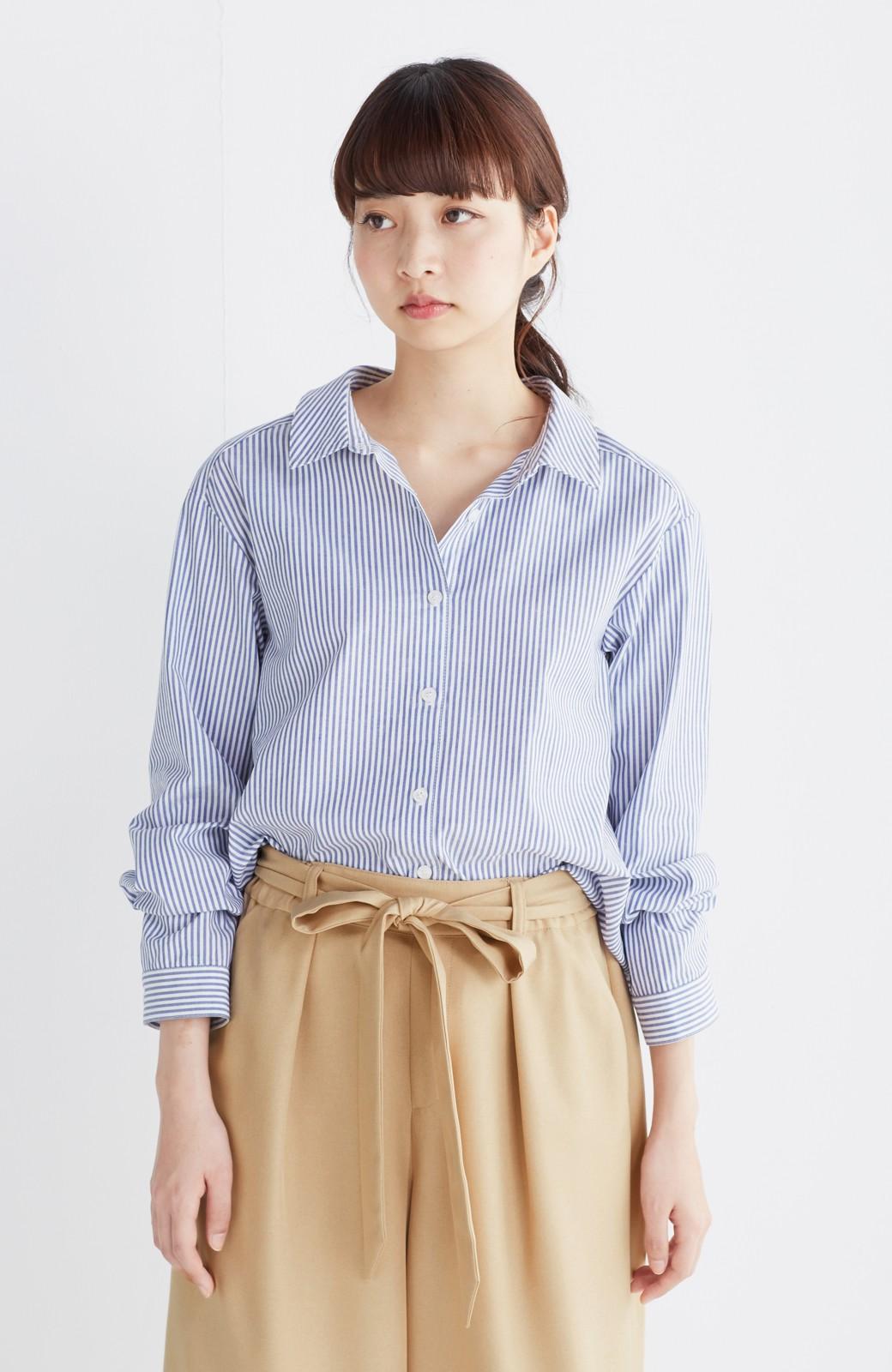 エムトロワ 抜き衿シャツ&ふんわりスカートの総柄セットアップ <ホワイト×ブルー>の商品写真32
