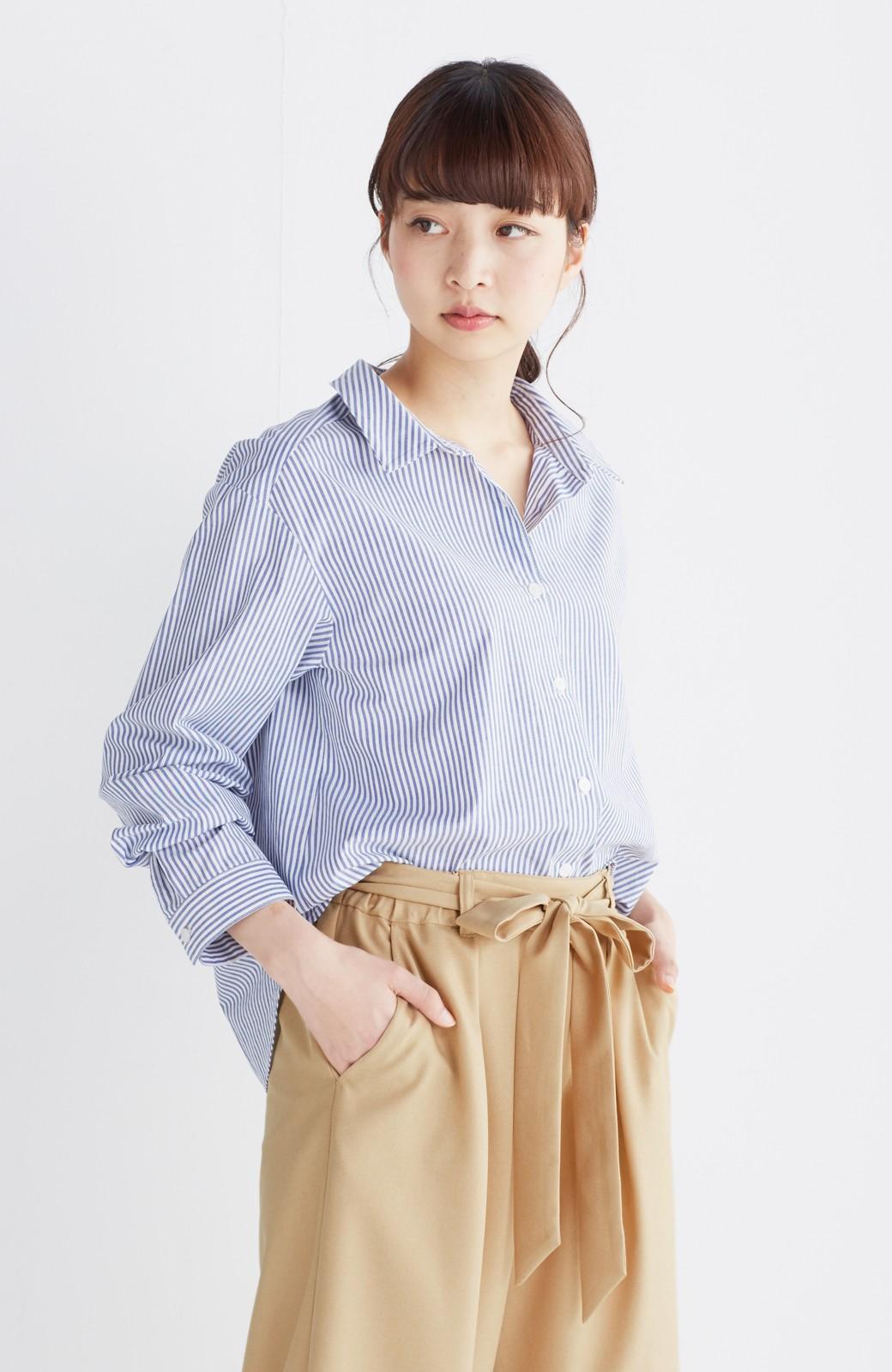 エムトロワ 抜き衿シャツ&ふんわりスカートの総柄セットアップ <ホワイト×ブルー>の商品写真33