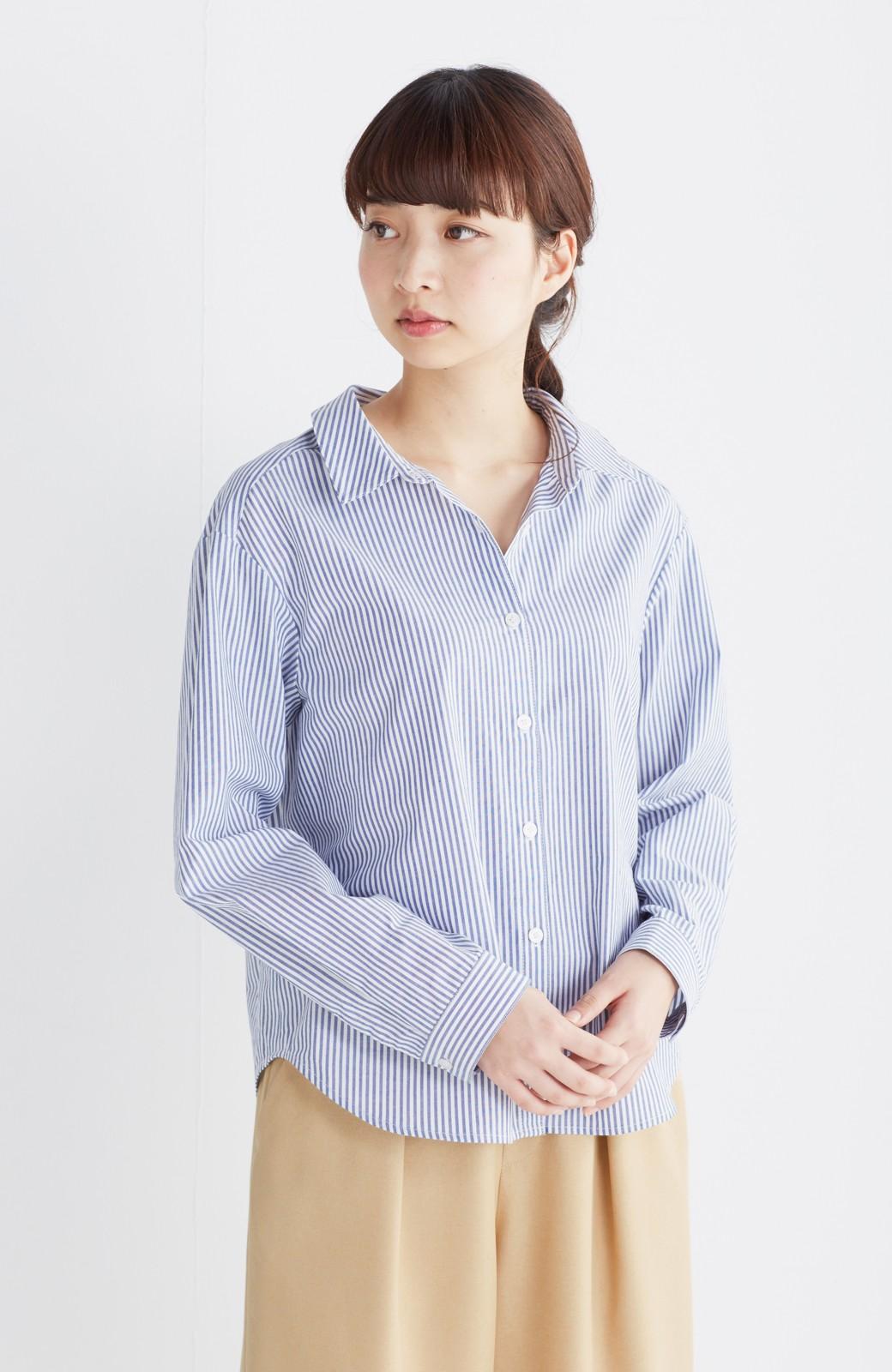 エムトロワ 抜き衿シャツ&ふんわりスカートの総柄セットアップ <ホワイト×ブルー>の商品写真25