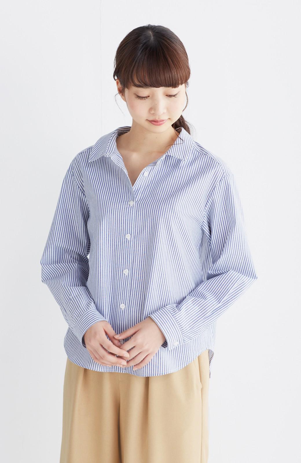 エムトロワ 抜き衿シャツ&ふんわりスカートの総柄セットアップ <ホワイト×ブルー>の商品写真26