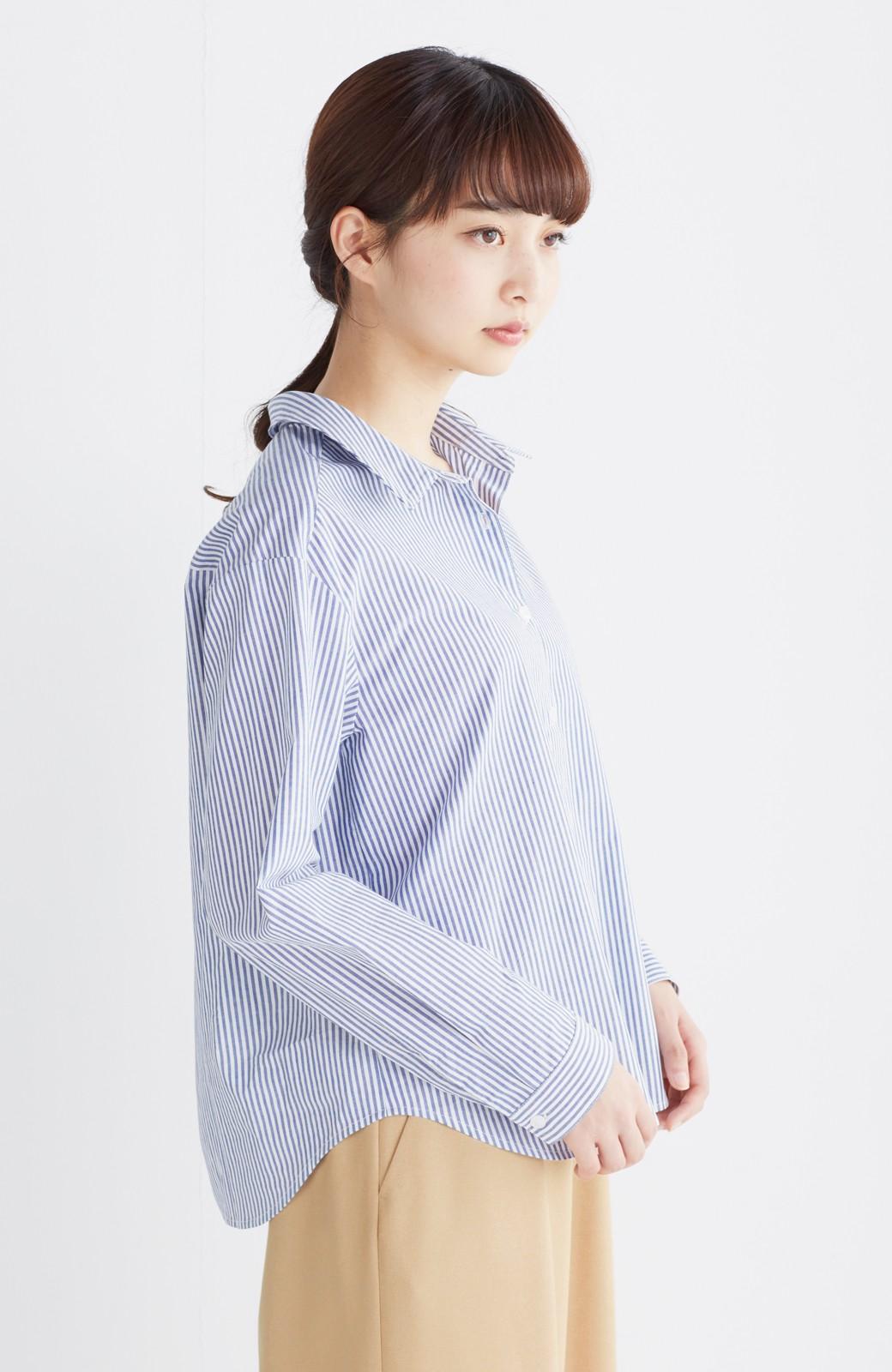 エムトロワ 抜き衿シャツ&ふんわりスカートの総柄セットアップ <ホワイト×ブルー>の商品写真27