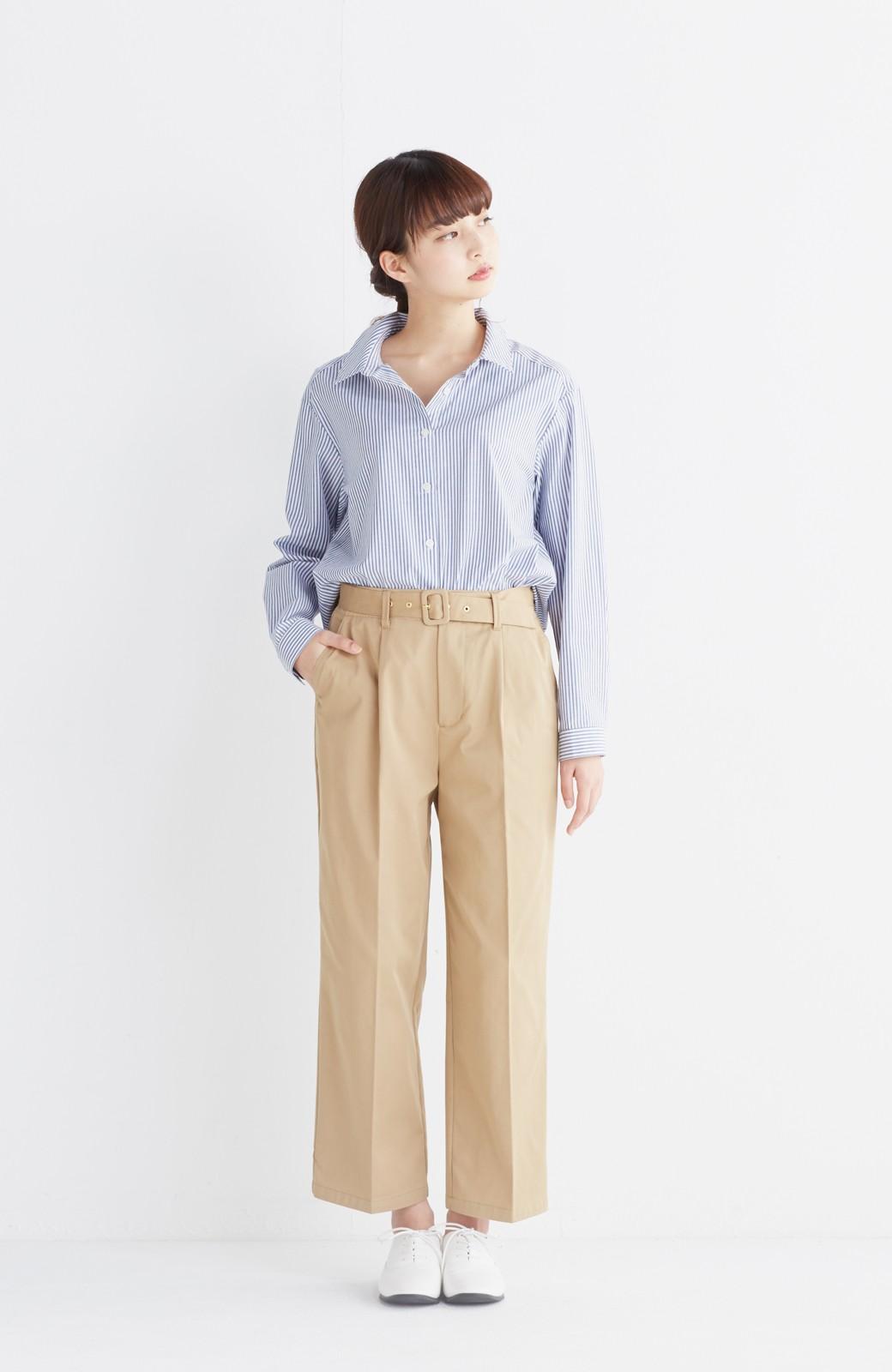 エムトロワ 抜き衿シャツ&ふんわりスカートの総柄セットアップ <ホワイト×ブルー>の商品写真7