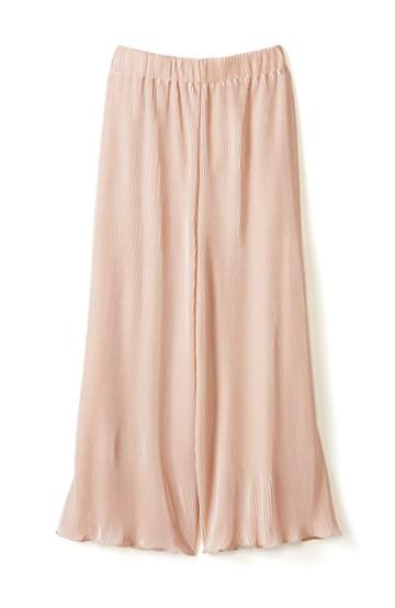 エムトロワ 思わずスキップしたくなる きれい色の繊細プリーツスカーチョ <ピンク>の商品写真