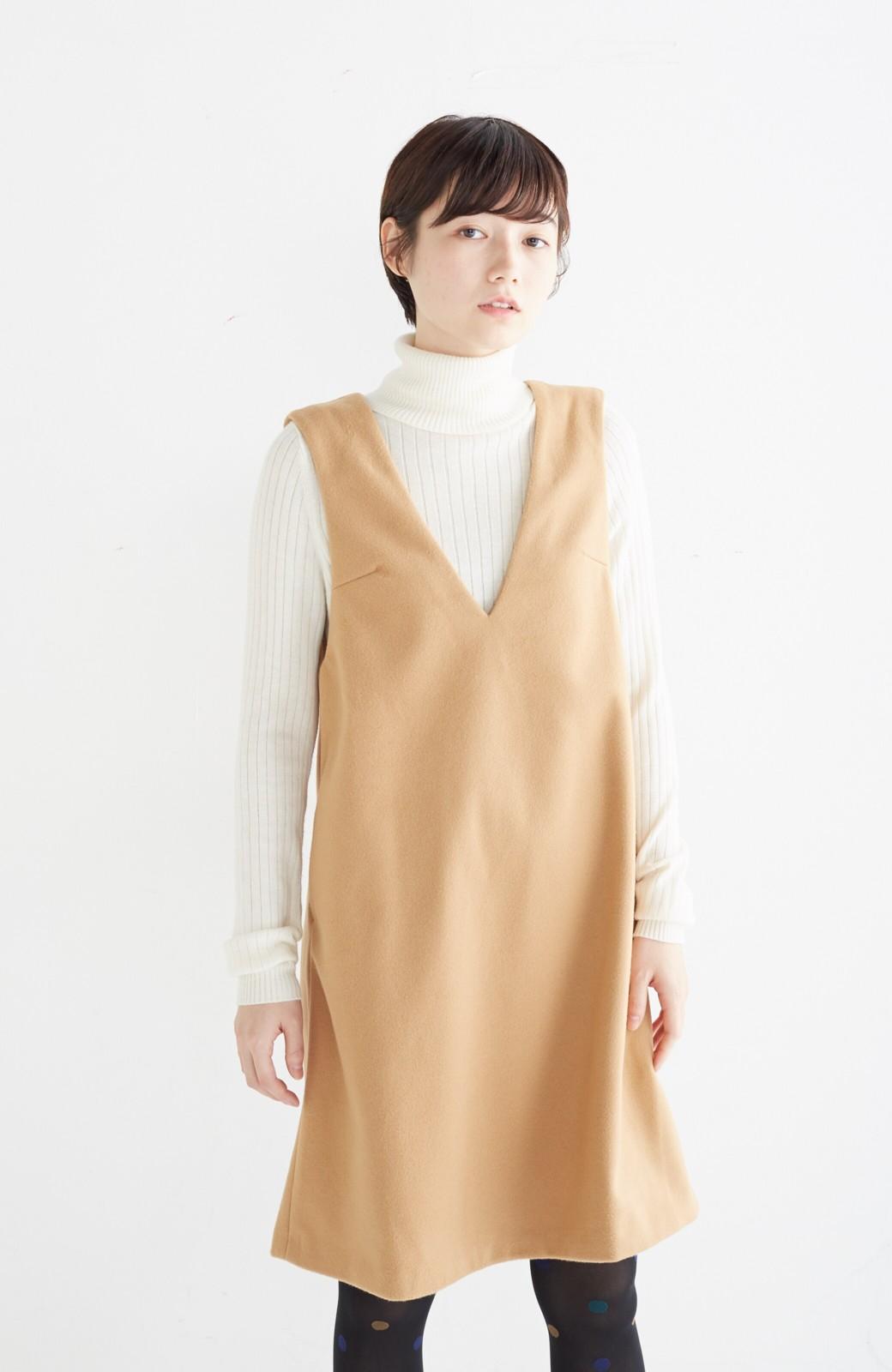 エムトロワ 大人レディーライクジャンパースカート <キャメル>の商品写真16