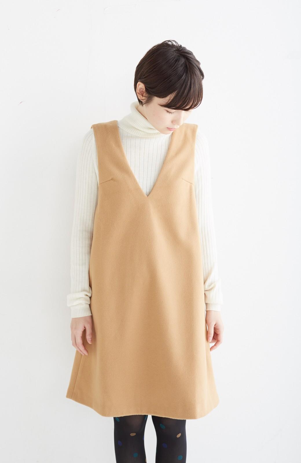 エムトロワ 大人レディーライクジャンパースカート <キャメル>の商品写真17