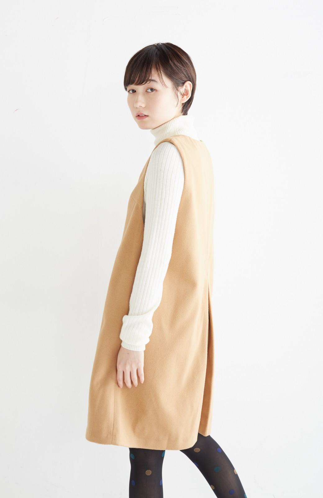 エムトロワ 大人レディーライクジャンパースカート <キャメル>の商品写真18