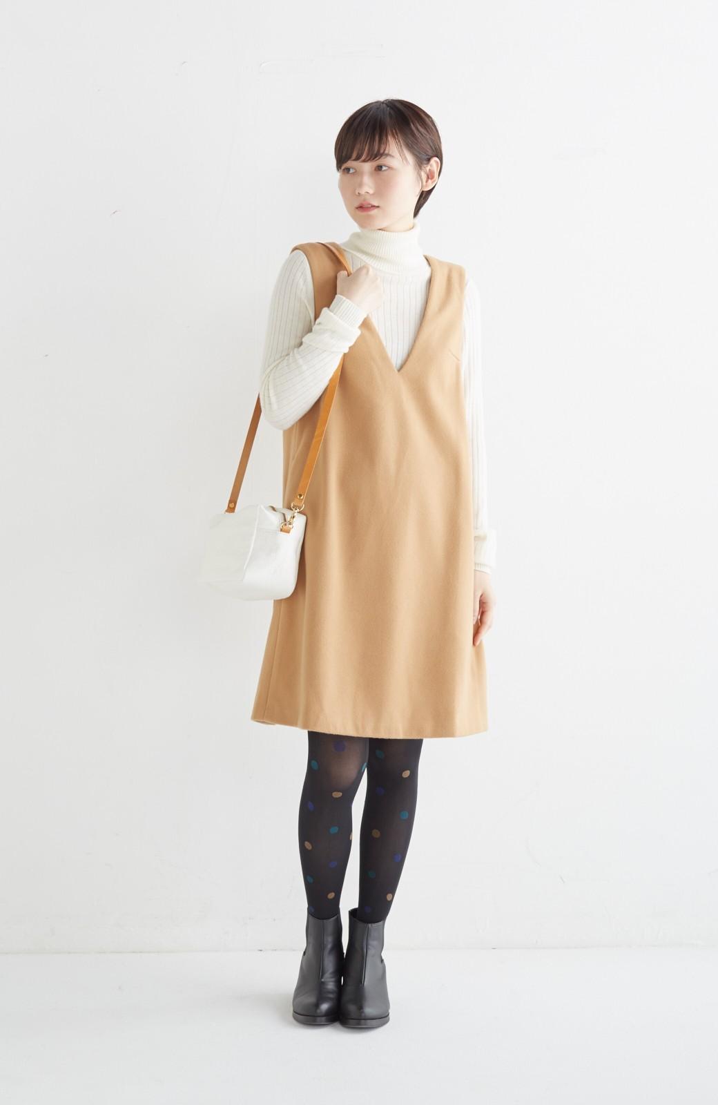 エムトロワ 大人レディーライクジャンパースカート <キャメル>の商品写真5