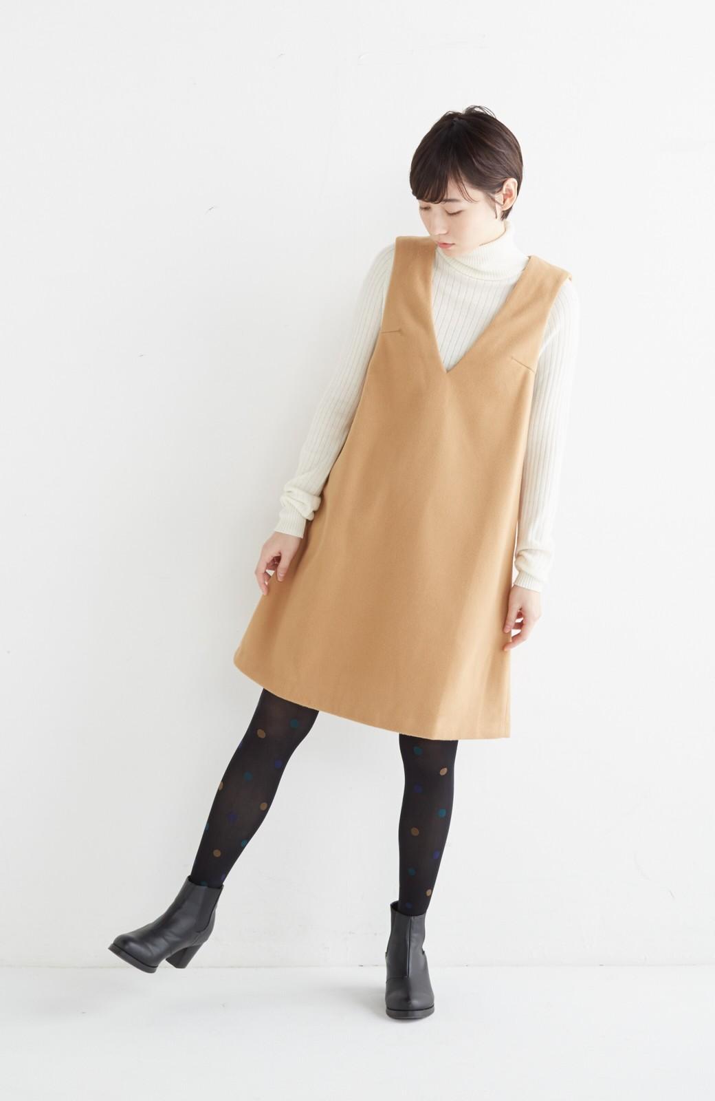 エムトロワ 大人レディーライクジャンパースカート <キャメル>の商品写真6