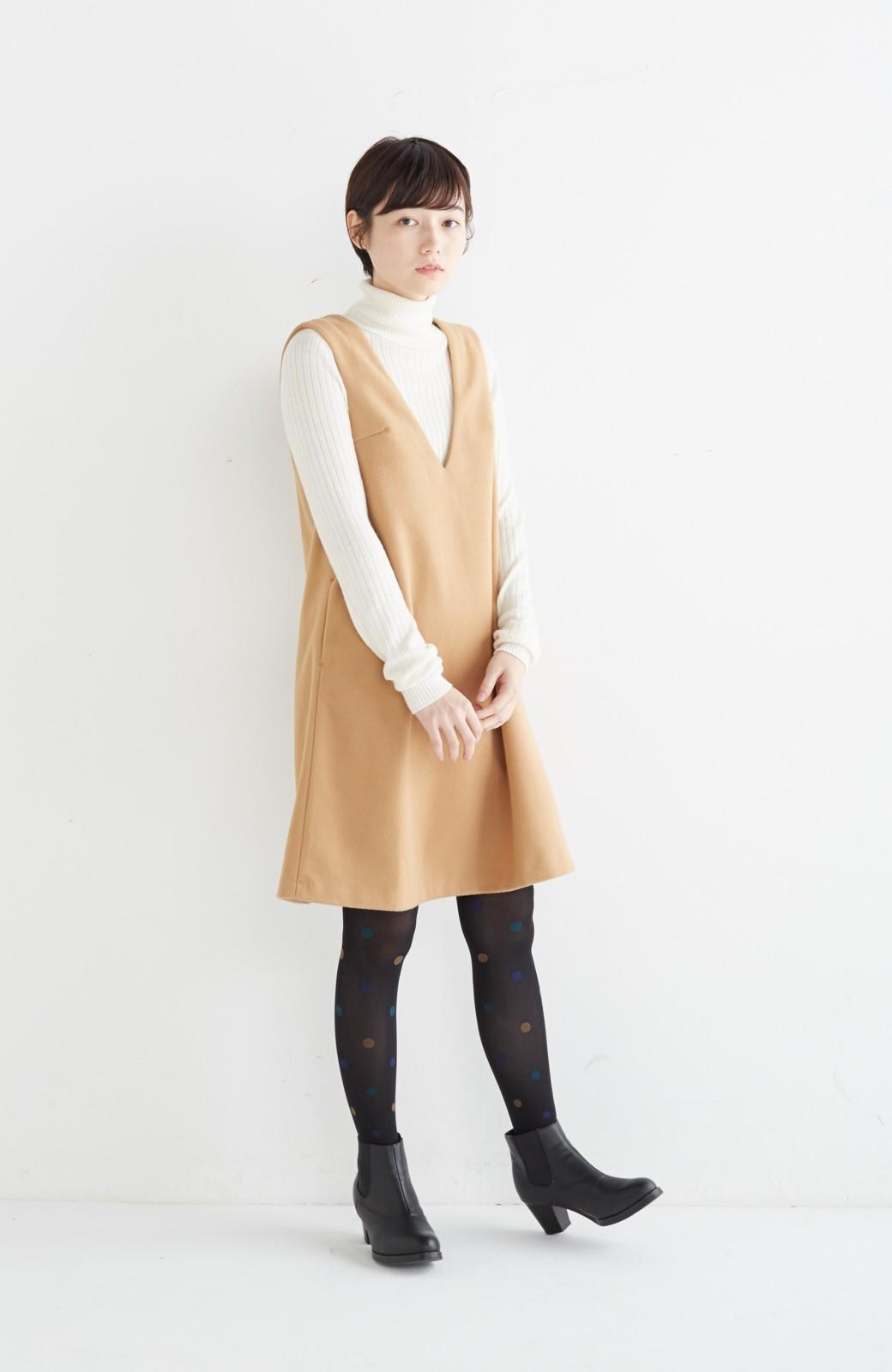 エムトロワ 大人レディーライクジャンパースカート <キャメル>の商品写真10