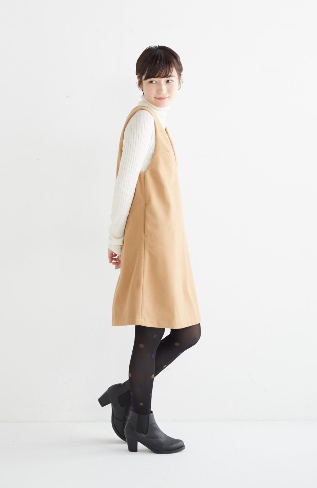 エムトロワ 大人レディーライクジャンパースカート <キャメル>の商品写真11