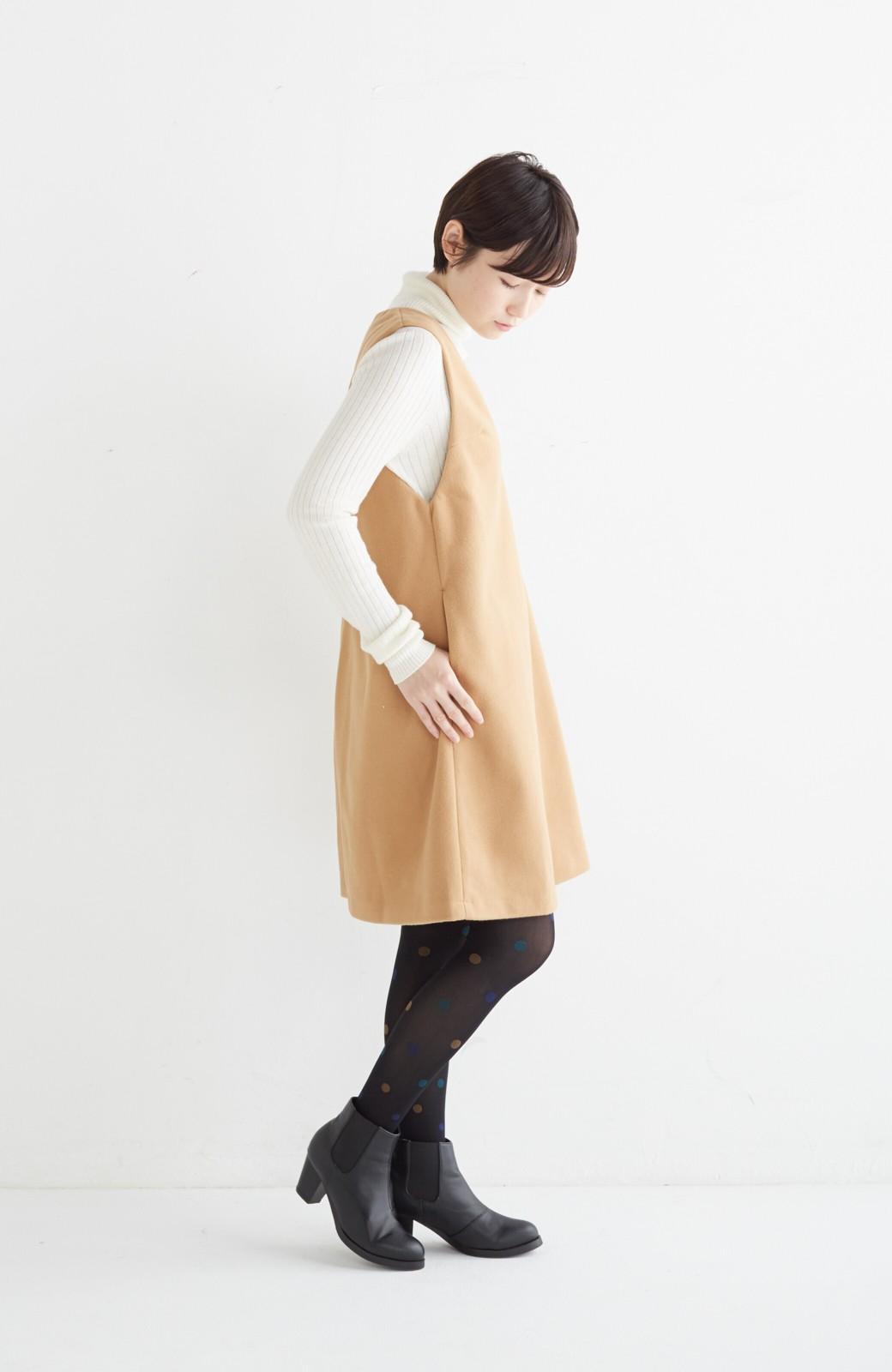 エムトロワ 大人レディーライクジャンパースカート <キャメル>の商品写真12