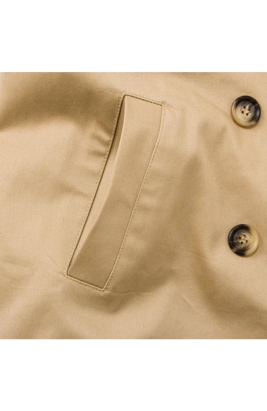 ロジーズ こっそりチェックがかわいいテーラードロングコート <ベージュ>の商品写真7