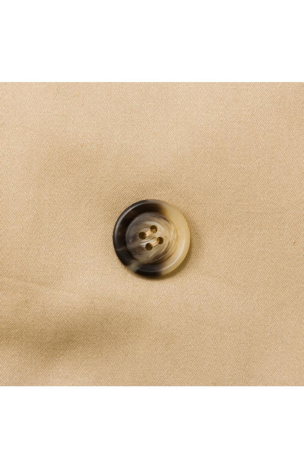 ロジーズ こっそりチェックがかわいいテーラードロングコート <ベージュ>の商品写真8