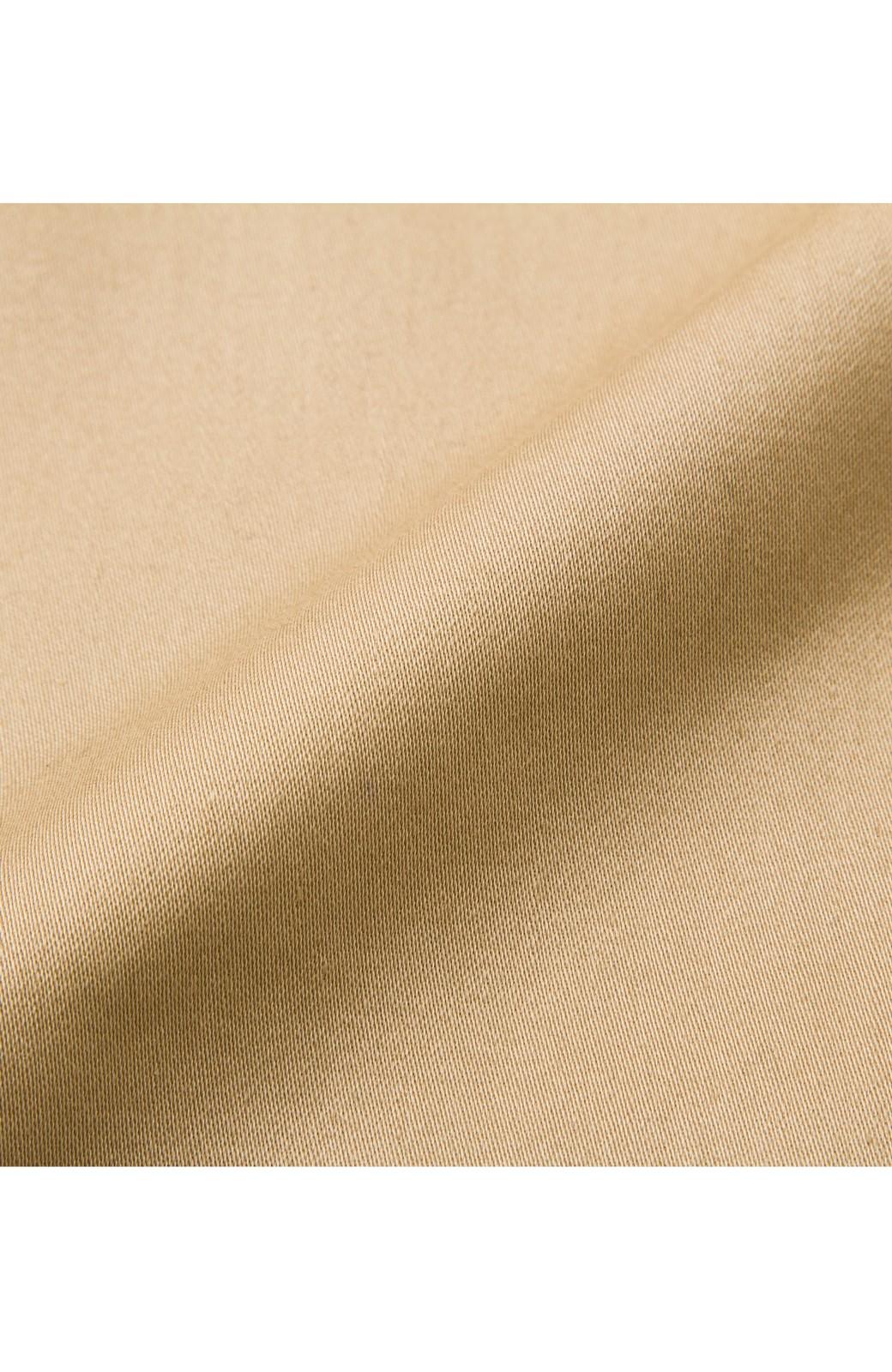 ロジーズ こっそりチェックがかわいいテーラードロングコート <ベージュ>の商品写真5