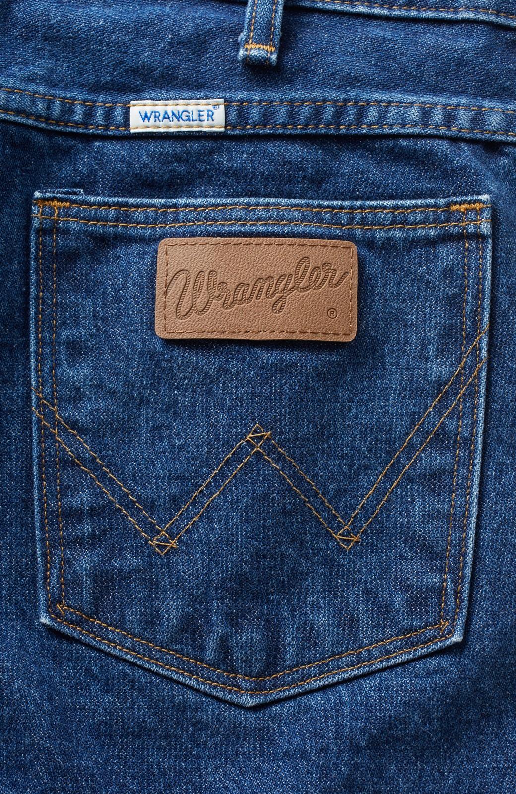 haco! Wrangler しっかりデニムがかっこいい本格派バギーパンツ <インディゴブルー>の商品写真2
