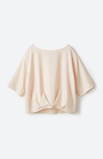 エムトロワ 時間のない朝にも便利 パッと着るだけで簡単 きれいめ&今気分なTブラウス <ピンクベージュ>の商品写真