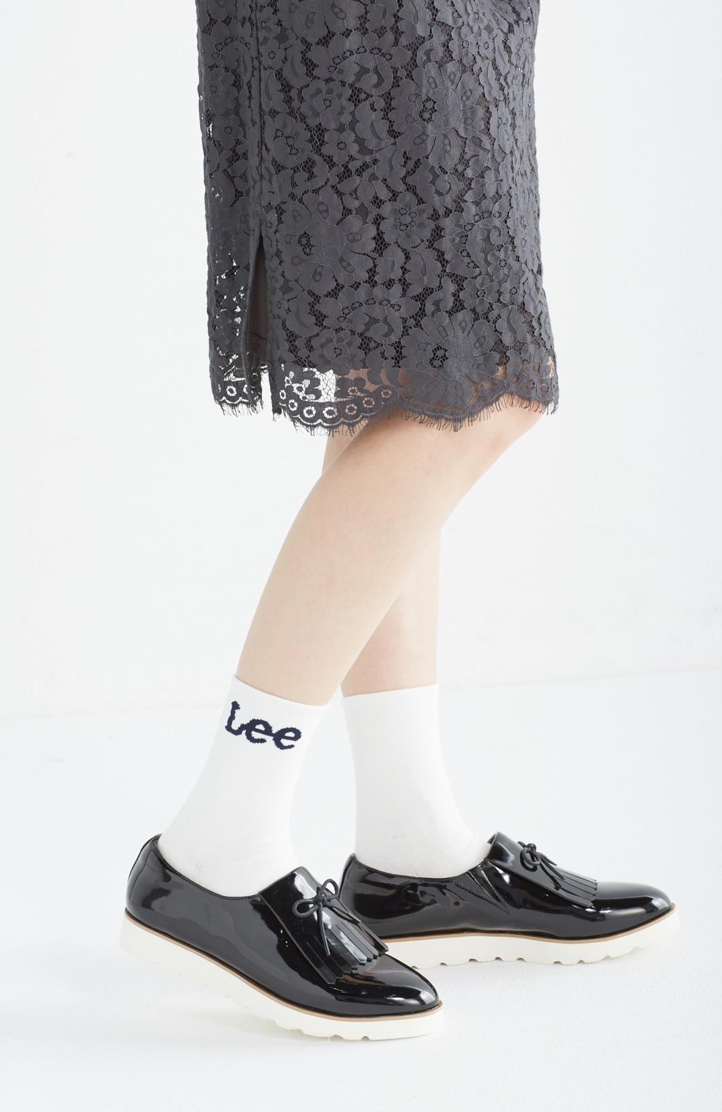 haco! Lee ロゴがかわいいハイカットソックス <ホワイト>の商品写真1