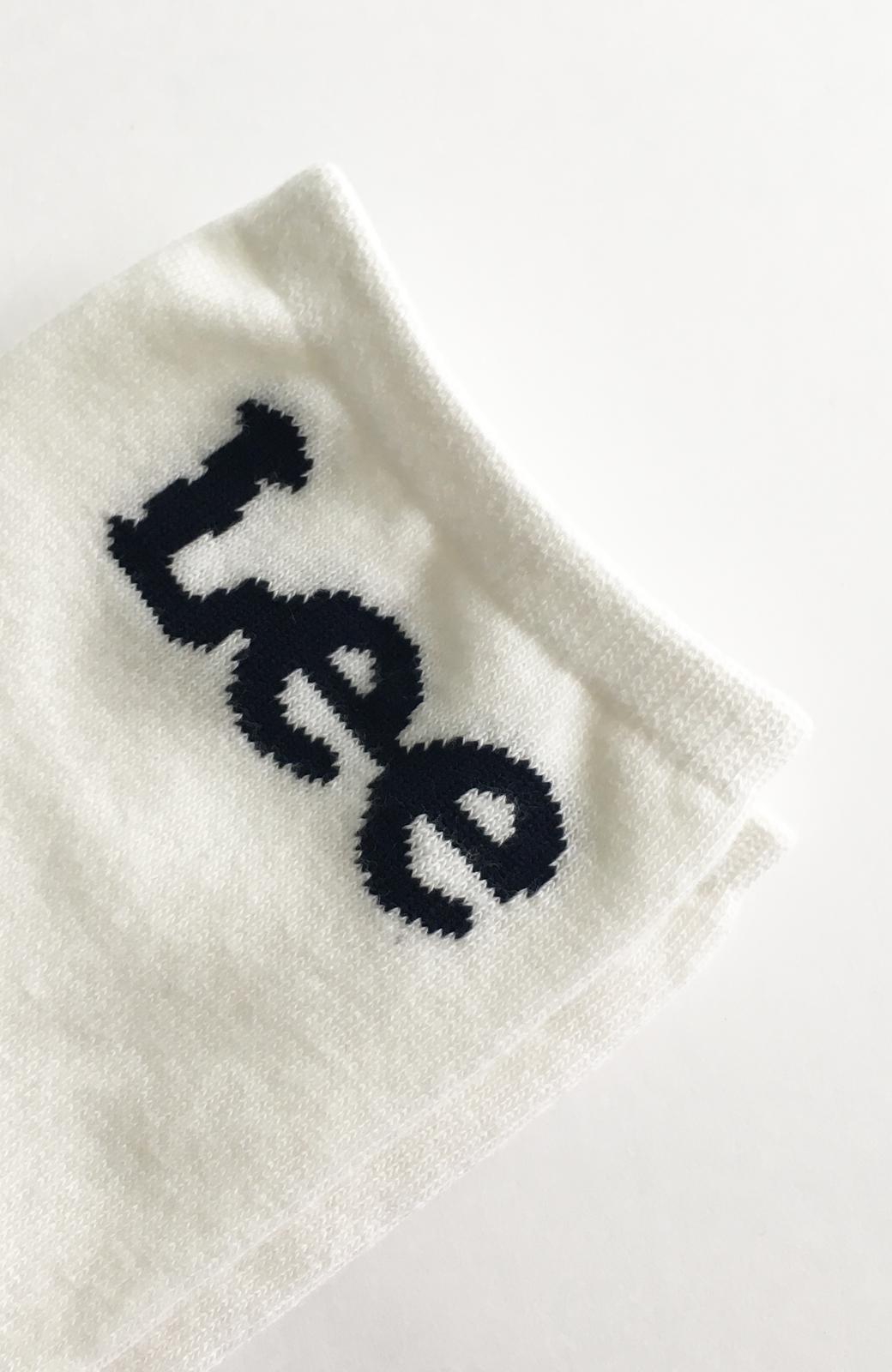 haco! Lee ロゴがかわいいハイカットソックス <ホワイト>の商品写真4