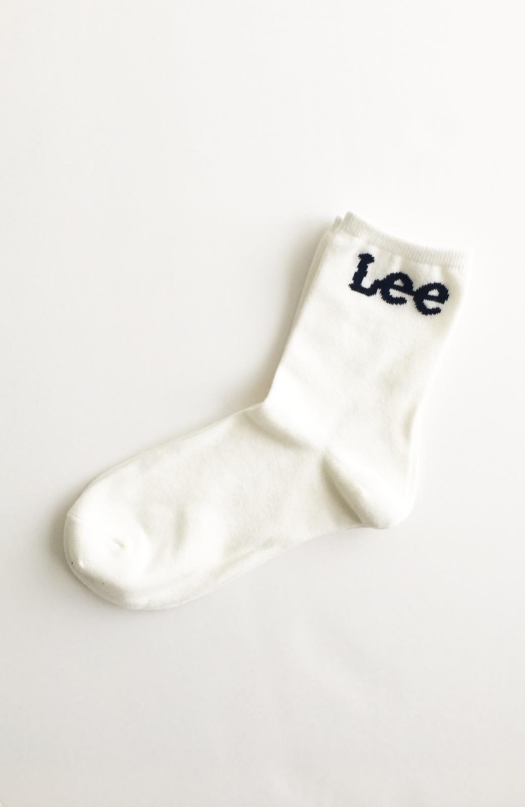 haco! Lee ロゴがかわいいハイカットソックス <ホワイト>の商品写真2