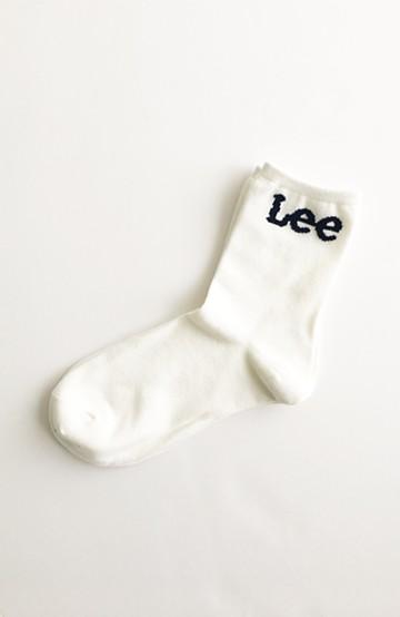 haco! Lee ロゴがかわいいハイカットソックス <ホワイト>の商品写真