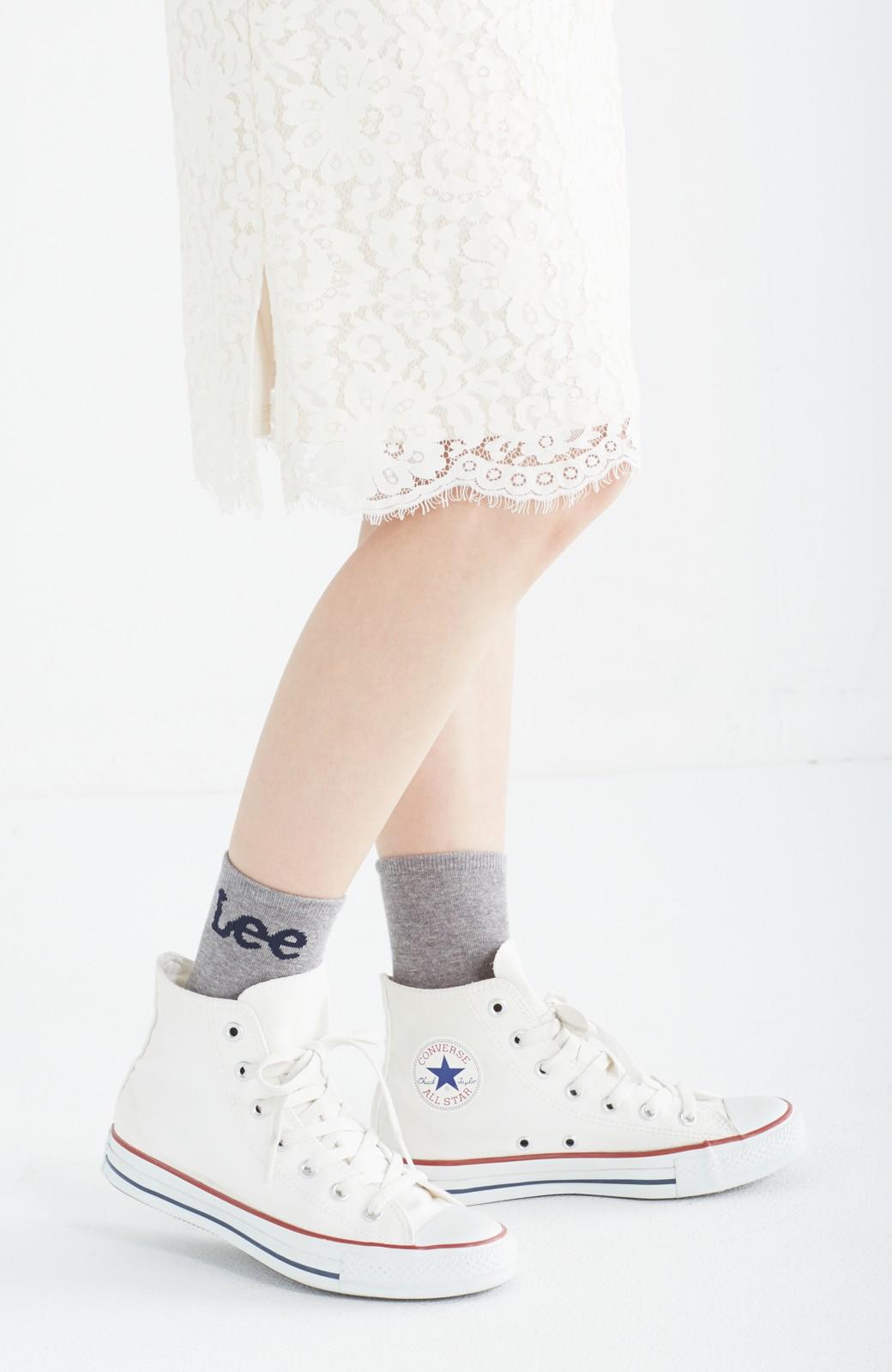 haco! Lee ロゴがかわいいハイカットソックス <グレー>の商品写真2