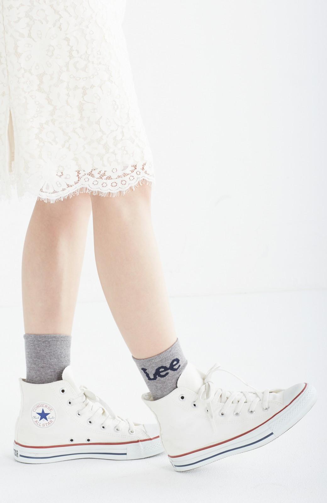 haco! Lee ロゴがかわいいハイカットソックス <グレー>の商品写真3