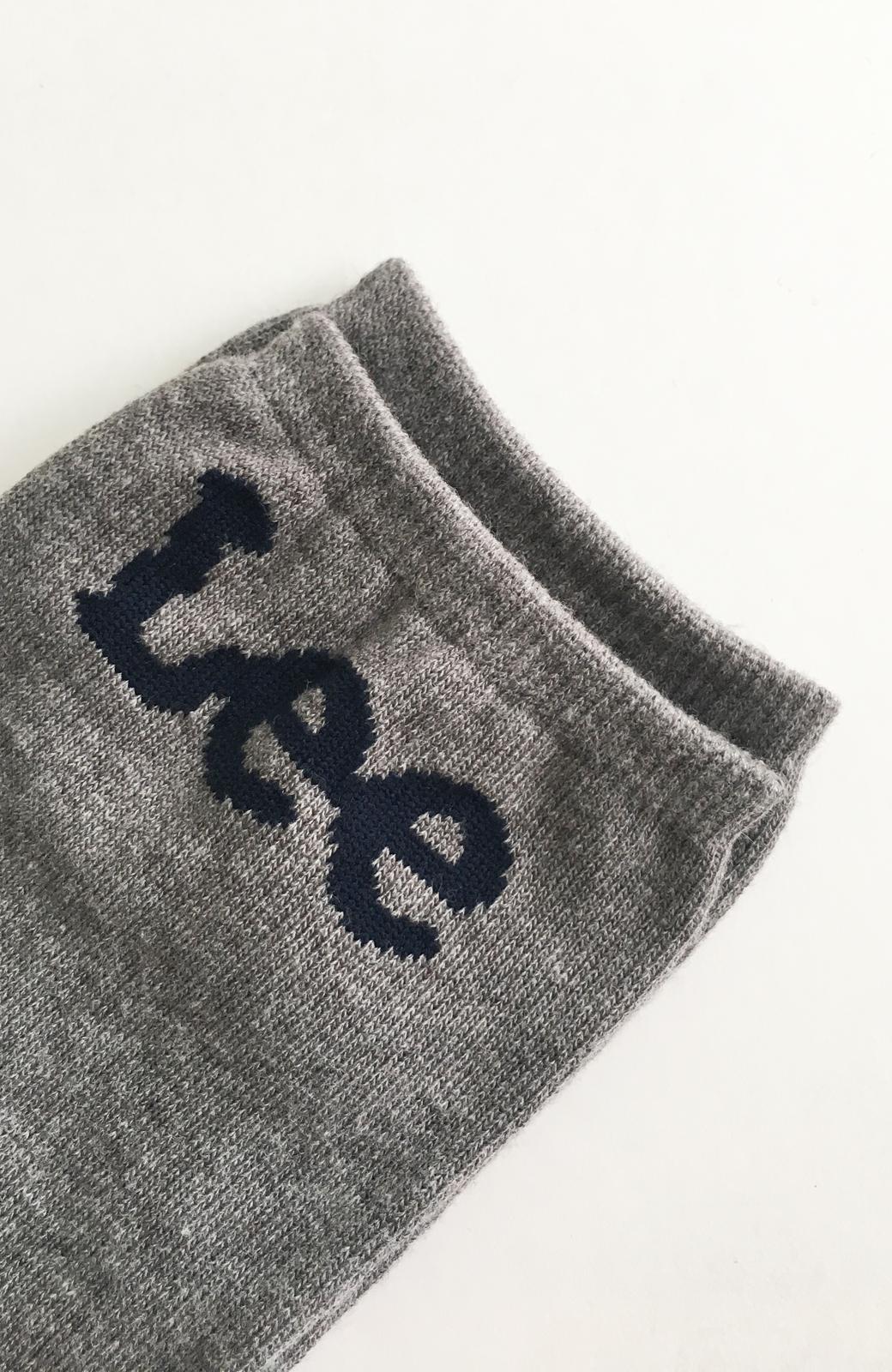 haco! Lee ロゴがかわいいハイカットソックス <グレー>の商品写真4