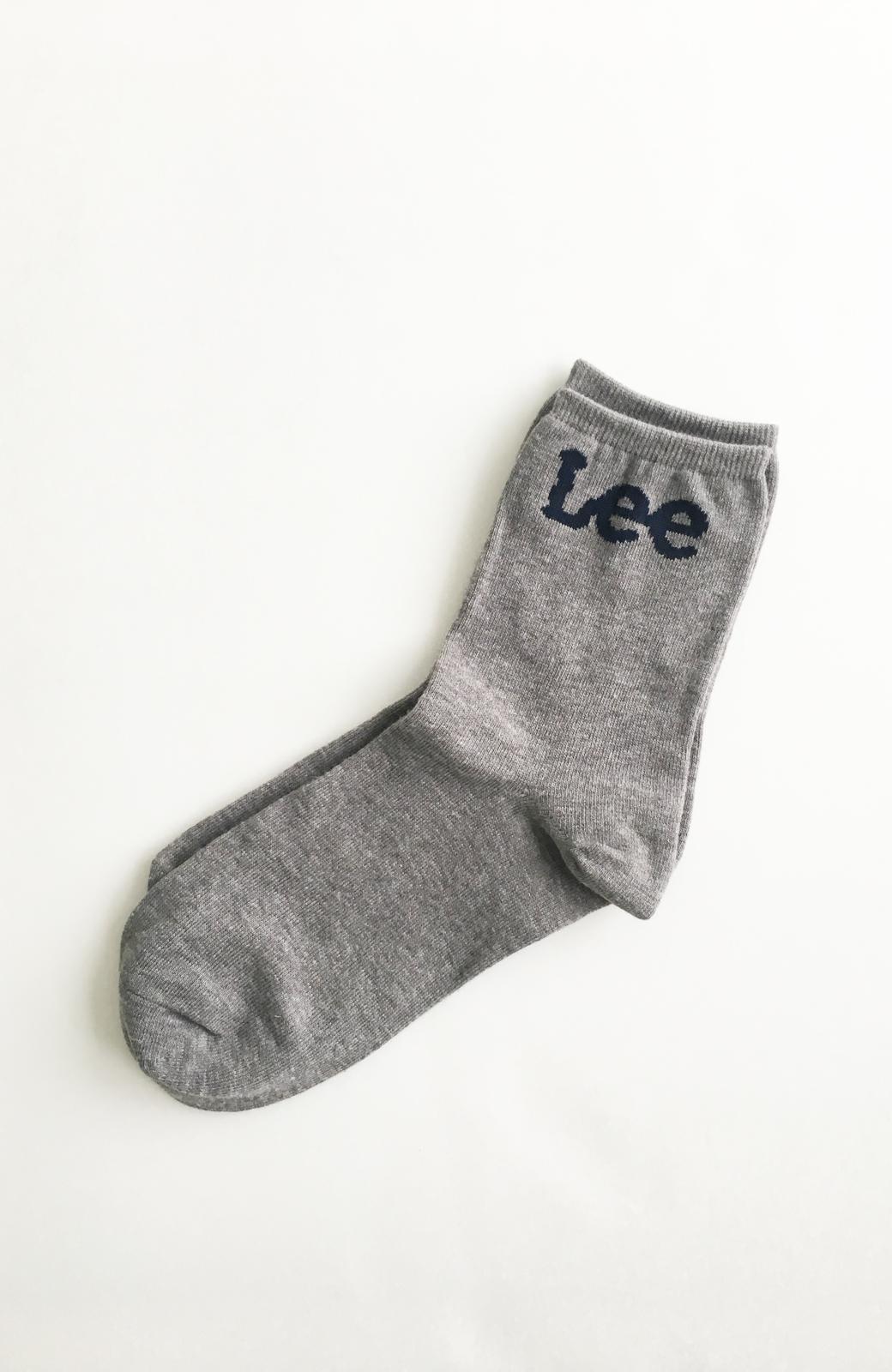 haco! Lee ロゴがかわいいハイカットソックス <グレー>の商品写真1
