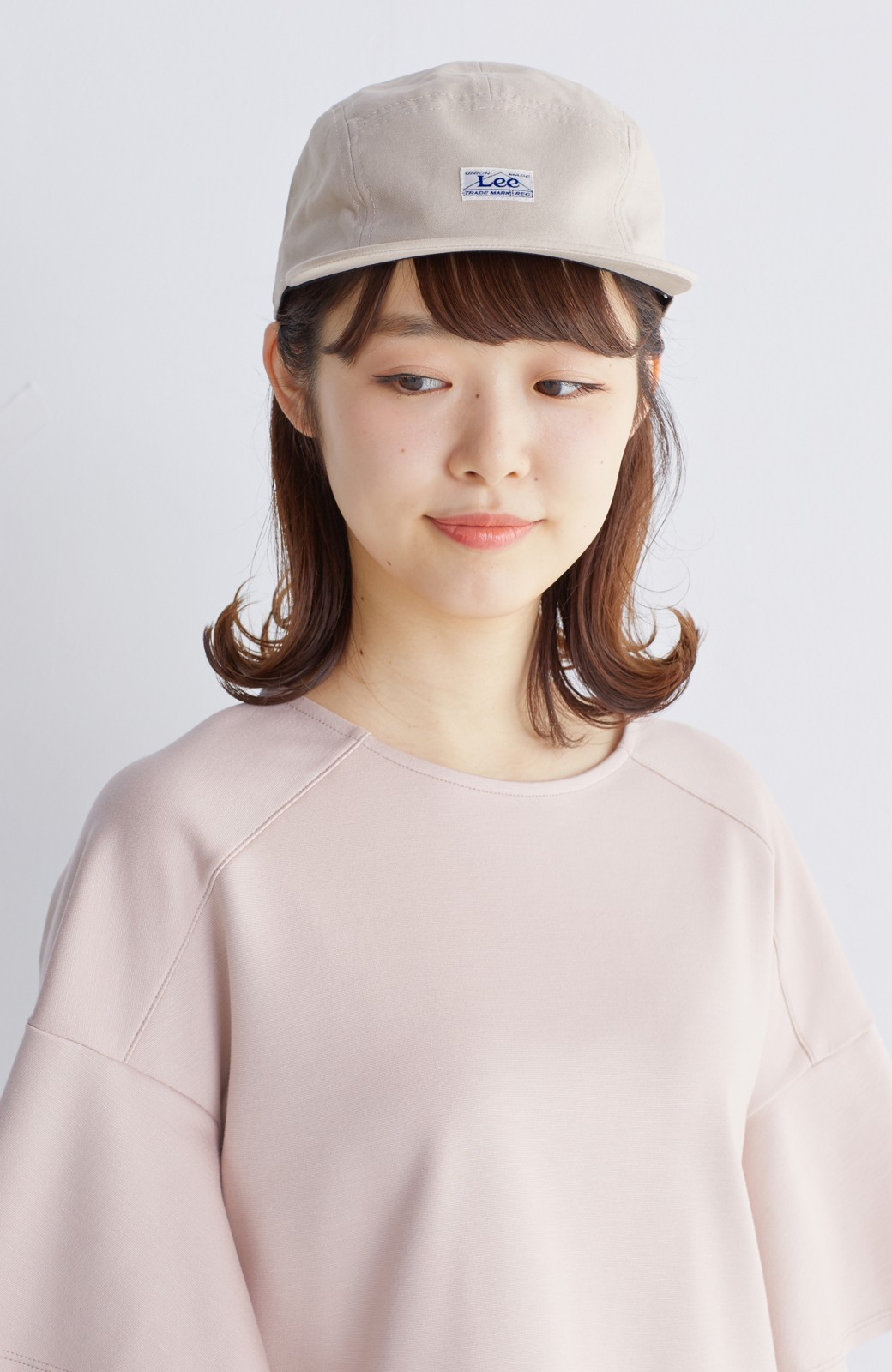 haco! Lee 女の子がかぶってもかわいいジェットキャップ <ベージュ>の商品写真3